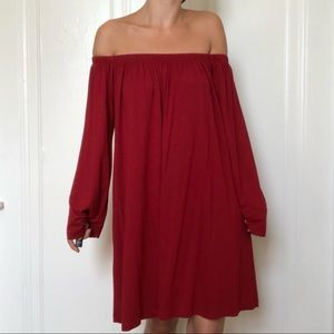 ASOS Red Off The Shoulder Dress